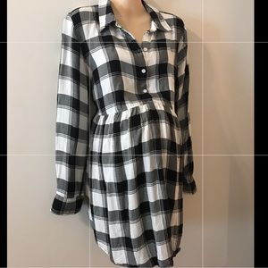 Flannel maternity top